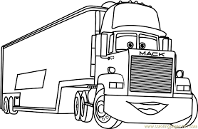 Mack From Cars 3 Coloring Page