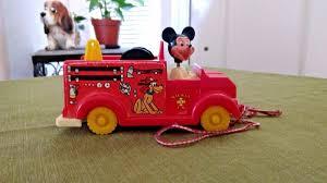 100 Mickey Mouse Fire Truck Vintage Walt Disney Pull Etsy