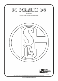 FC Schalke 04 Logo Coloring Page With