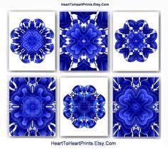cobalt blue moroccan wall decor navy royal blue white geometric