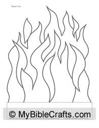 Fire Visual Aid To Colorcolor Use For Telling The Bible Story About Shadrach Meshach And Abednego In Fiery Furnace If You Dont Want Print
