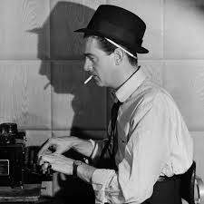 Newspaper Reporter At Typewriter Smoking A Cigarette Undated Photograph Image By