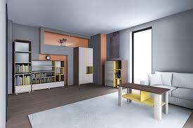 wohnzimmer komplett set a kerema 5 teilig farbe nuss ulme gelb