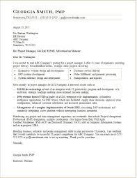 Sample Cover Letters For Banking Jobs Project Manager Letter