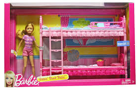 bunk beds play set with stacie barbie doll friends and family