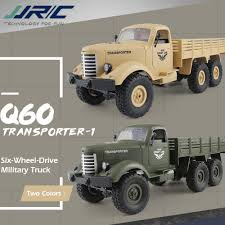 100 Rc Army Trucks JJRC Q60 116 RC Truck Remote Control Car 24G 6WD Tracked Off Road