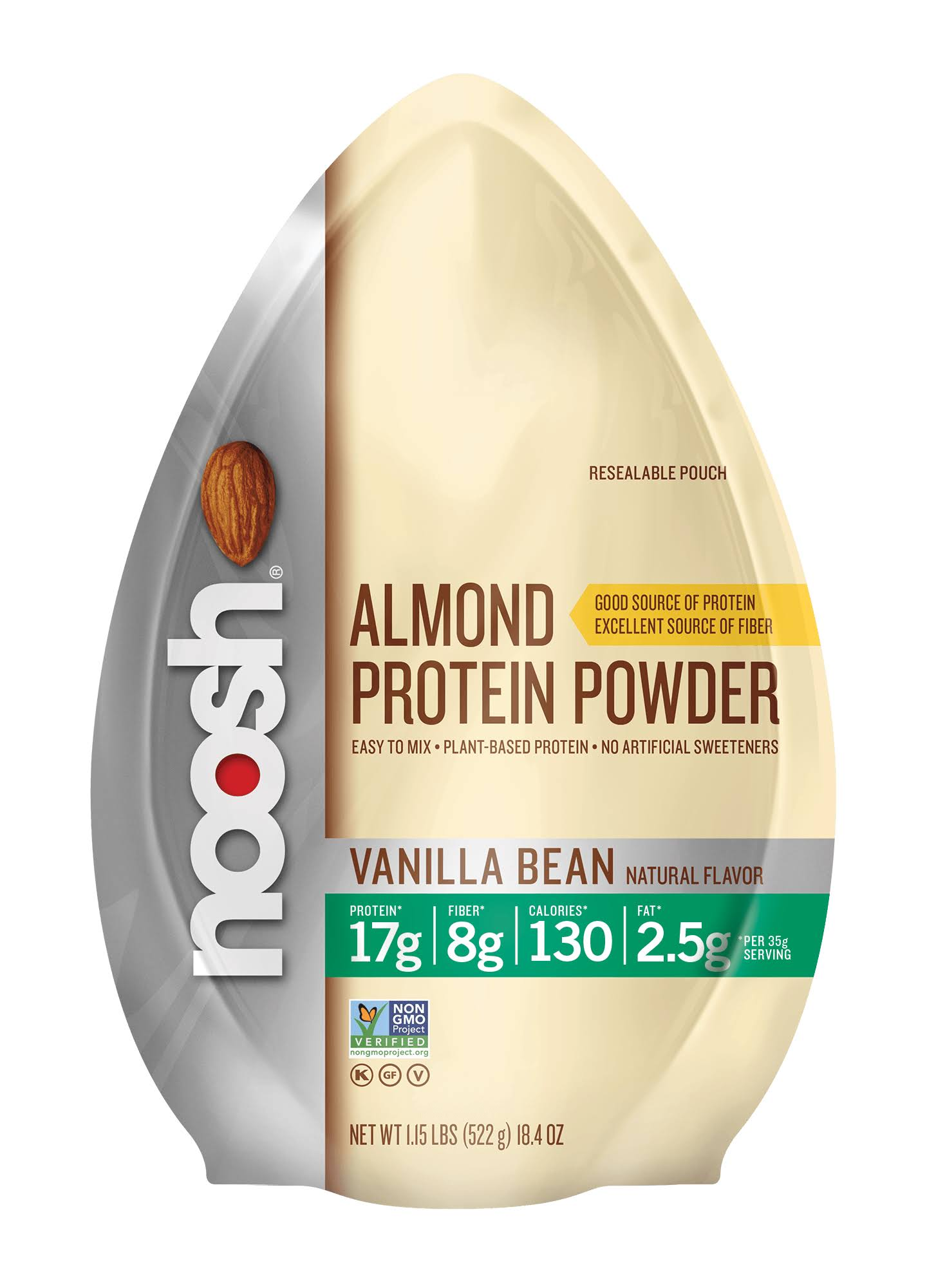 Noosh Plant Based Almond Protein Powder Vanilla