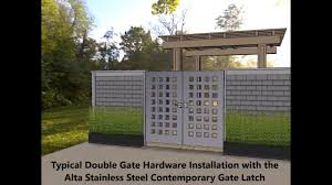 100 Contemporary Gate Alta Stainless Steel Double Installation