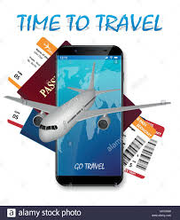 Air Travel International Vacation Concept Business Banner With Airline Tickets And Realistic Airplane Agency Advertisement Poster