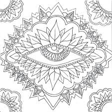 Mandala Madness This Eye Begs For Color Mandalas Coloring Pages Free Printable Colouring Book Pdf Cool