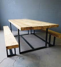chic industriel récupéré 6 8 places en bois massif et métal
