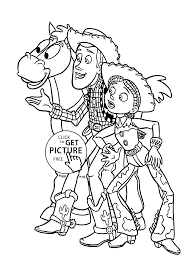 Cowboys From Toy Story Coloring Pages For Kids Printable Free