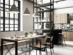 Dining Room Rules Industrial Lighting As The Key Fixture