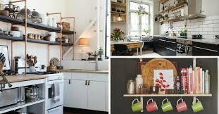 deco etagere cuisine ouvertes dans la cuisine 53 idées photos