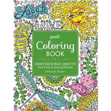 Inspirational Quotes Adult Coloring Book For Fun Relaxation