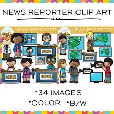 The TV News Reporter Clip Art Set Is An Original And Fun That Could Be