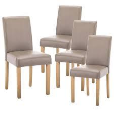 lot de 4 chaise pas cher cardiff lot de 4 chaises taupe lot 4