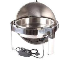 Electric Stainless Steel Round Chafing Dish Server
