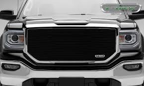 100 Grills For Trucks 20162018 Sierra 1500 Laser Billet Grille Black 1 Pc Insert Without Logo Cutout PN 6202141