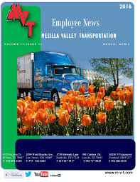 Mvt Newsletter April 2016 By MVT Services - Issuu Mesilla Valley Transportation Cdl Truck Driving Jobs Abilene Motor Express Truckers Review Pay Home Time Equipment Nm State Football On Twitter Thanks To Trucking For Mvt Mobile Apps Reviews Complaints Youtube Solutions Give Away 42000 In Fuel Efficiency Consulting And Testing Innometric Mpg Us Xpress Proves Reability Of The Tc10 Owner Perfect