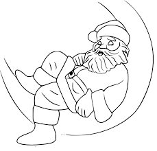 Cool Coloriage Pere Noel Traineau On Coloriage De P¨re No L