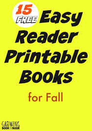 Printable Pumpkin Books For Preschoolers by Fall Easy Reader Printable Books For Kids
