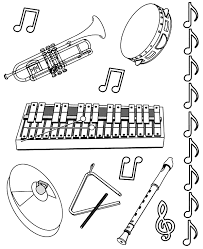 Coloring Picture Of Music