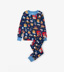 100 Monster Truck Pajamas Breakfast Time Organic Cotton Pajama Set Sale Categories Girls