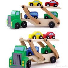 100 Toy Car Carrier Truck 2019 Wooden Double Decker Rier And S Wooden Set With 1 And 4 S From Yym123 Price DHgateCom