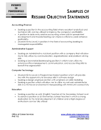 Resume Objective Statement Examples For Information Technology Sample Administrative Assistant Example