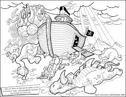 Coloring Page Flying Spaghetti Monster And Noah Ark Dinosaurs His Real Fate Of