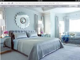 Modern Chic Light Blue Silver Bedroom Design Sun Mirror Crystal Lamps