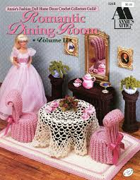Annie's Attic Romantic Dining Room Volume II - Crochet Pattern Leaflet  #526B For Barbie 11 1/2