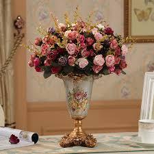 Creative European Retro Resin Vase Figurine Home Furnishing Decoration Crafts Livingroom Dining Room Table Vases Silk Flower Art In From Garden
