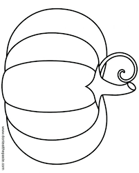 Simple Pumpkin Coloring Page Transparent Format Pages Of Flowers Games Easy For 3 Year Olds To