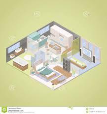 hightech moderne wohnungs innenarchitektur mit wohnzimmer