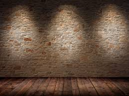 Brick Wall Texture Interior With Beam Of Light Historic Building