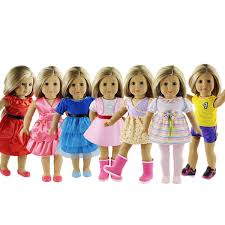 Super Value 7 Outfits American Girl Doll Clothes 18 Inch Doll