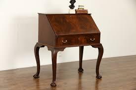 Antique Secretarys Desk by Sold Georgian Chippendale 1940 U0027s Vintage Flame Mahogany Carved