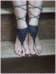 Crochet Barefoot Sandals Nude Shoes Wedding Victorian Sexy Yoga Toe
