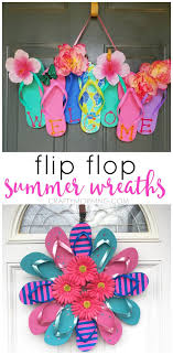 100 Flip Flop Homes Summer Flip Flop Wreaths What A Cute Craft To Hang On A Door