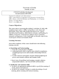 vocabulary development course outline doc morphology