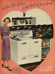 Crosleys 1950s Uk Cookers Kitchens Drawing By The Advertising Archives