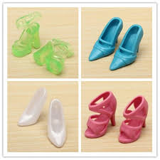 40 Pairs Different High Heel Shoesboots Accessories For Barbie Doll