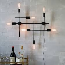 astounding industrial wall sconce light industrial cage wall