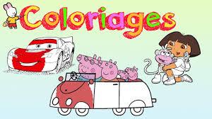 Peppa Pig Cars Dora Lexploratrice Cahier De Coloriage 1