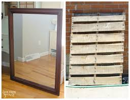 DIY Mirror To Pallet Art Display