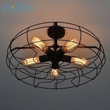 ygfeel ceiling lights vintage retro industrial fan ls american
