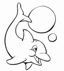 Very Cute Baby Dolphin Animal Coloring Pages