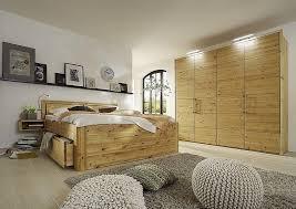 schlafzimmer set 4tlg kiefer gelaugt geölt bett 100x200 56 hoch kopfteil vollholz kleiderschrank massiv 4trg 204x223x60 50er raster casade mobila